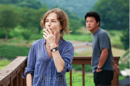 """A scene from director Hong Sang-soo's """"In Another Country"""" (JEONWONSA FILM CO)"""