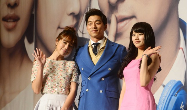 "Gong Yoo (center) and co-stars Lee Min-jung (left) and Miss A's Suzy attend the press conference for KBS drama ""Big"" in Seoul, Thursday. (Park Hae-mook/The Korea Herald)"