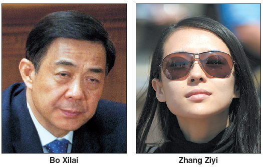 20120529001204 0 Chinese actress Zhang Ziyi is mired in $1.5m prostitution scandal with Bo Xilai