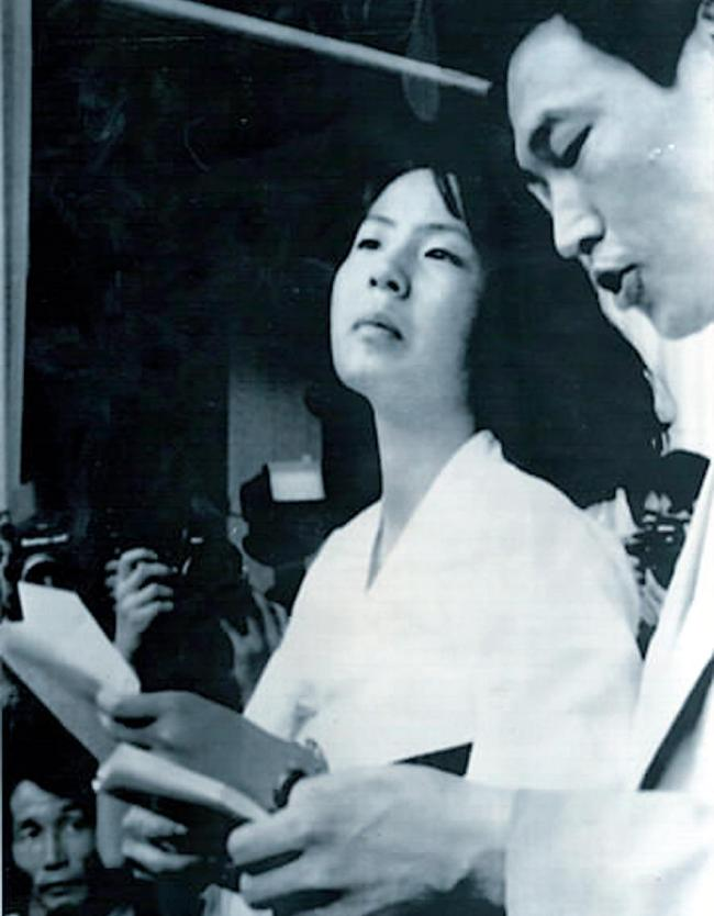 This 1989 file photo shows Lim Soo-kyung attending the 13th World Festival of Youth and Students in Pyongyang. (Korea Herald file)