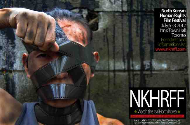 Promotional image for the North Korean Human Rights Film Festival in Toronto