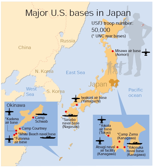 USJapan Security Alliance And Asian Regional Order APACOne - Us bases in japan map