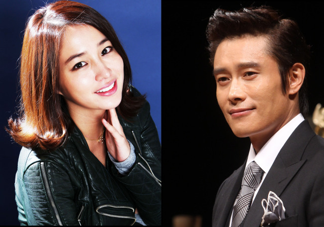Lee Min-jung (left), Lee Byung-hun (Yonhap News)