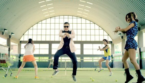 A scene from Psy's 'Gangnam Style' music video.