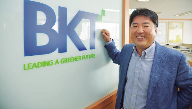Kim Dong-woo, founder and CEO of BKT (Kim Myung-sub/The Korea Herald)