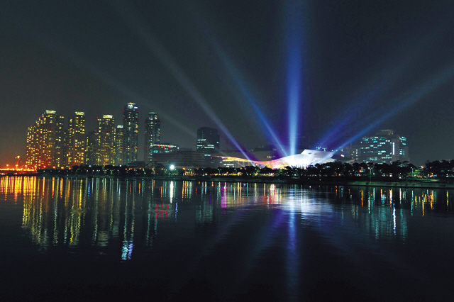 A night view of Busan Cinema Center, which will be used as the official venue of the upcoming Busan International Film Festival. (BIFF)