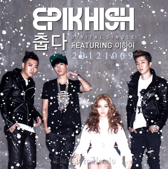"Epik High's chart-topping hit single ""It's Cold,"" featuring Lee Hi. (YG Entertainment)"