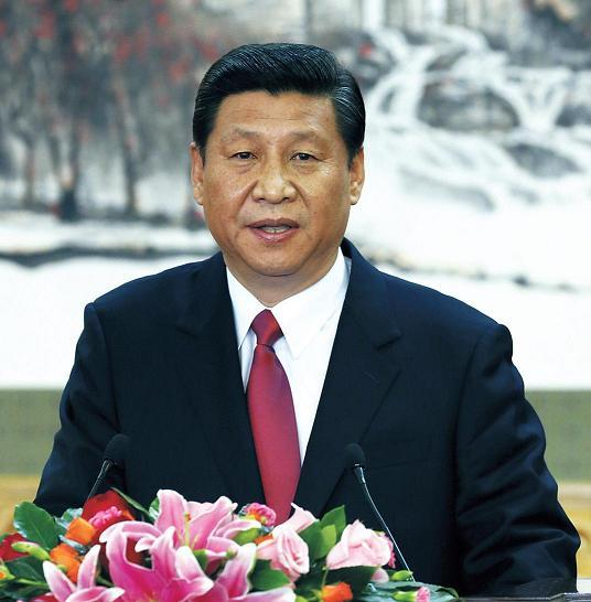 Xi Jinping speaks after being appointed the Chinese Communist Party's general secretary in Beijing last Thursday. (AP-Yonhap News)