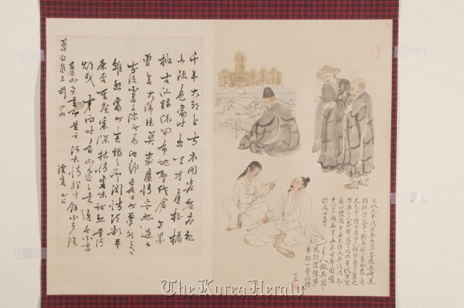 """""""Men from Joseon"""" by Ukita Ikkei describes men from Joseon sharing knowledge with Japanese people. (Chuncheon National Museum)"""