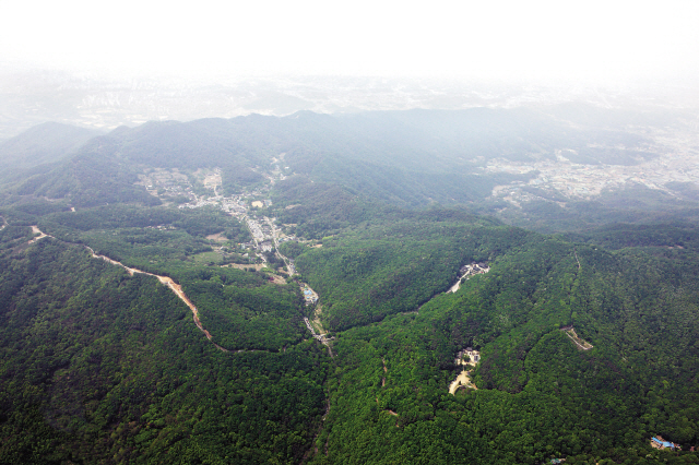 An aerial view of Namhansanseong Fortress(Namhansanseong Culture and Tourism Initiative)