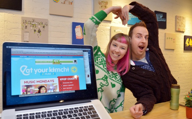 Simon and Martina, the couple who owns popular website `Eat Your Kimchi`