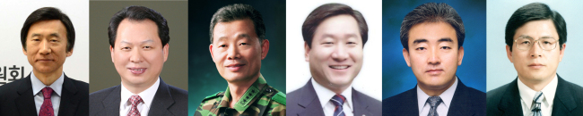 President-elect Park Geun-hye named Yoon Byung-se (left) as foreign minister, Seo Nam-soo for education, Kim Byung-kwan for defense, Yoo Jeong-bok for administration, Yoo Jin-ryong for culture and Hwang Kyo-an for justice. (Yonhap News)