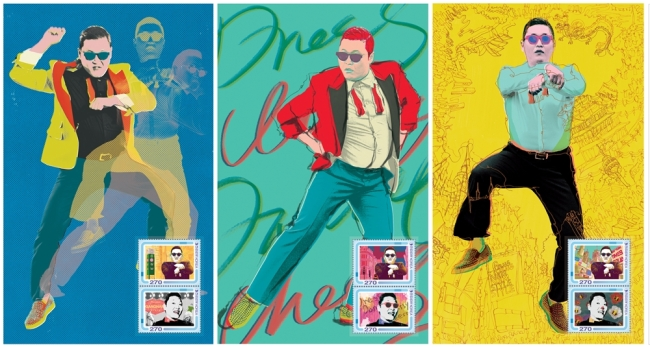 """Stamps to be released on Feb. 18 to commemorate """"Psy fever"""" (Yonhap News)"""