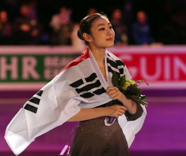 Kim Yu-na at the 2013 World Figure Skating Championships (Yonhap News)