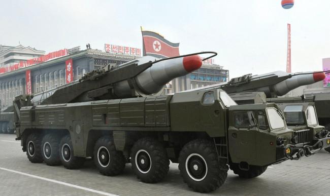 North Korea`s intermediate-range missile believed to be the Musudan missile (Yonhap News)