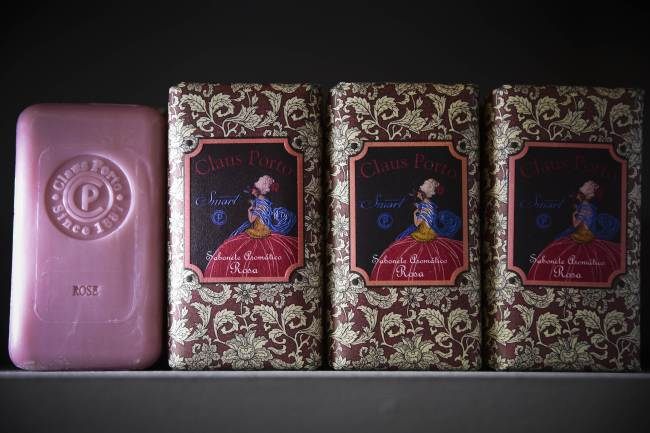 Claus Soap is pictured at the Ach Brito factory store in Vila do Conde, Portugal. (AFP-Yonhap News)