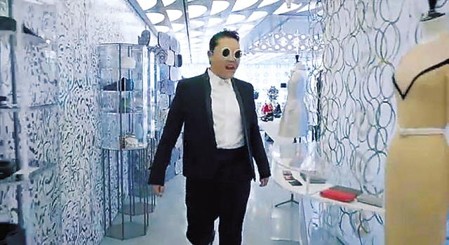 "Psy's ""Gentleman"" music video features a scene at 10 Corso Como Seoul. (YouTube)"