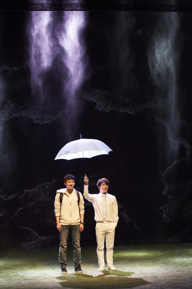 "A scene from ""Kafka on the Shore,"" a play based on famed Japanese writer Haruki Murakami's novel of the same title. (PAC Korea)"