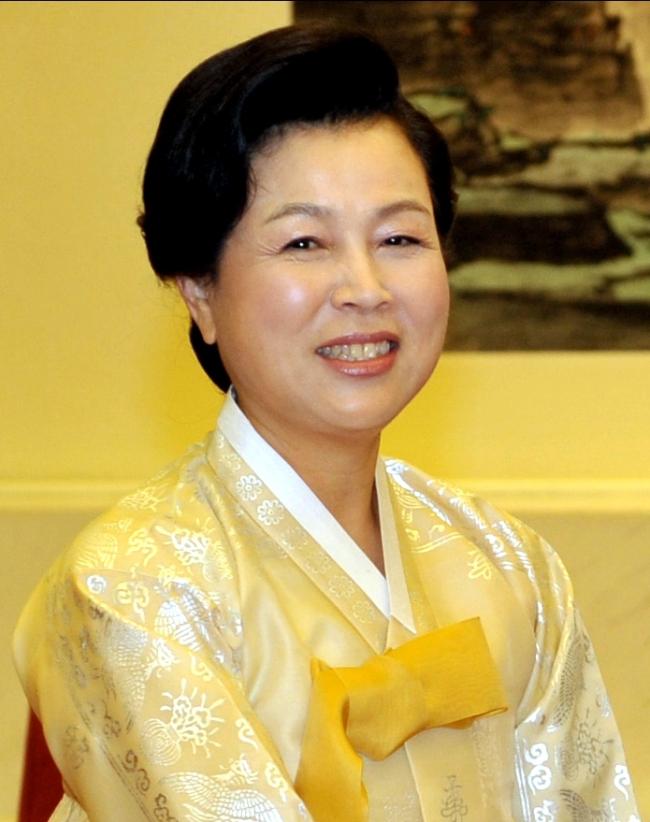 Former first lady Kim Yoon-ok. (The Korea Herald file photo)