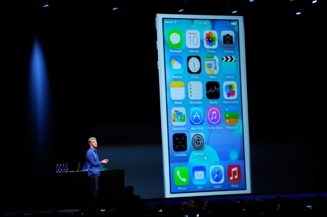 Craig Federighi, vice president of software engineering at Apple Inc., speaks during the keynote of the World Wide Developers Conference (WWDC) in San Francisco, California. (Bloomberg)