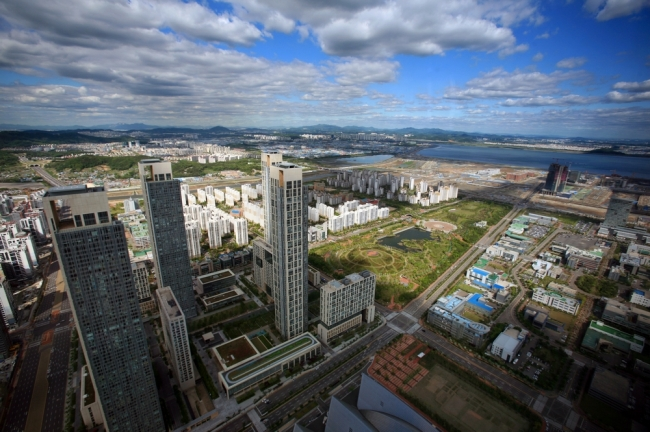 The Songdo international business district