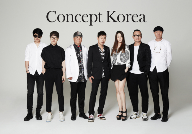 From left: Ko Tae-yong, Kim Hongbum, Choi Bo Ko, Park Youn-soo, Kathleen Hanhee Kye, Lee Suk-tae and Kim Seoryong, who have been selected to participate in the 8th Concept Korea project in New York in September. (Korea Creative Content Agency)