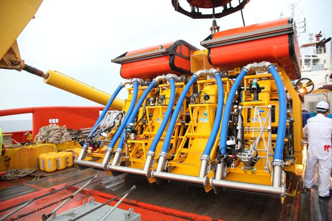 The 25-ton deep sea mining robot, MineRo. (Maritime Ministry)