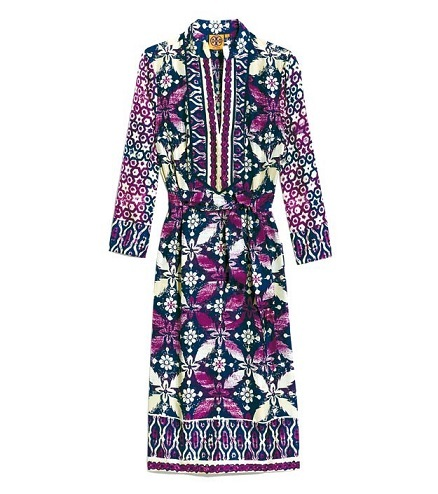 Silk jersey print dress by Tory Burch (Cheil Industries)