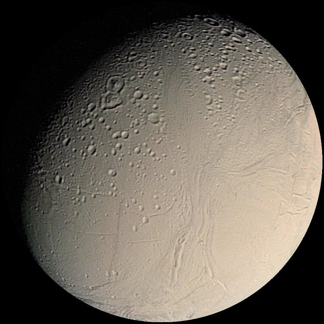 Saturn's moon Enceladus ( AFP-Yonhap News)