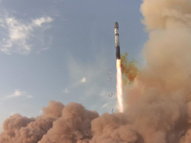South Korea`s new multipurpose satellite KOMPSAT-5, also known as Arirang 5, takes off from Russia`s Yasny launch base on Thursday. (Yonhap News)