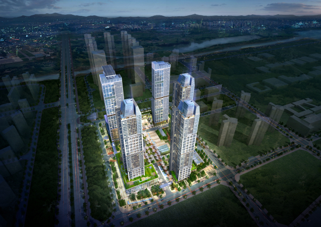 An artist's rendering of the Korean-American town project in Songdo (KOAM International)