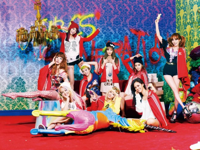 Girls' Generation members (from left to right) Tiffany, Hyoyeon, Sooyoung, Sunny, Taeyeon,Seohyun, Yoona, Yuri and Jessica (S.M. Entertainment)