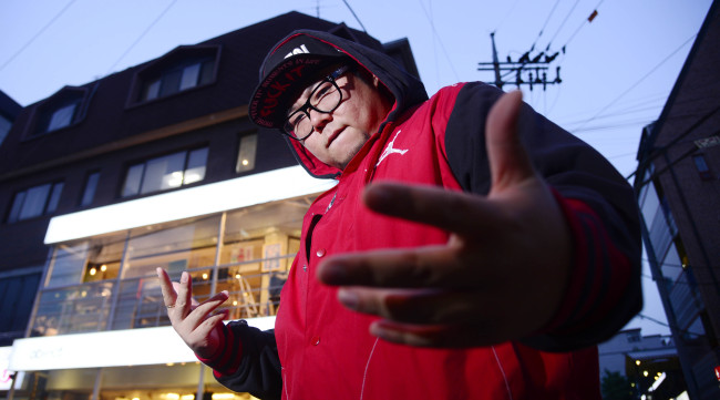 Hip-hop artist P-Type poses before an interview with The Korea Herald on Friday. (Park Hae-mook/The Korea Herald)