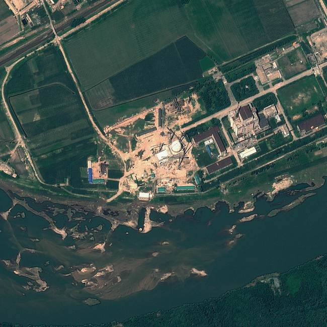 This file satellite image taken on August 6, 2012 and provided by GeoEye on August 22, 2012 shows the Yongbyon Nuclear Scientific Research Centre in North Korea. (AFP)