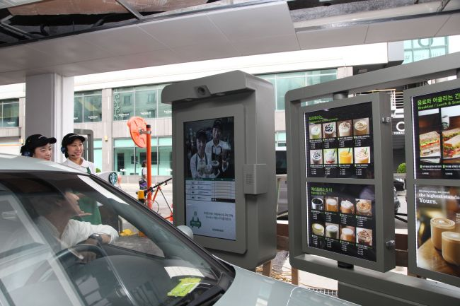 Starbucks, which currently boasts more than 540 stores nationwide, recently opened a second drive-thru spot near Baekseok Station in Gyeonggi Province. (Starbucks Korea)