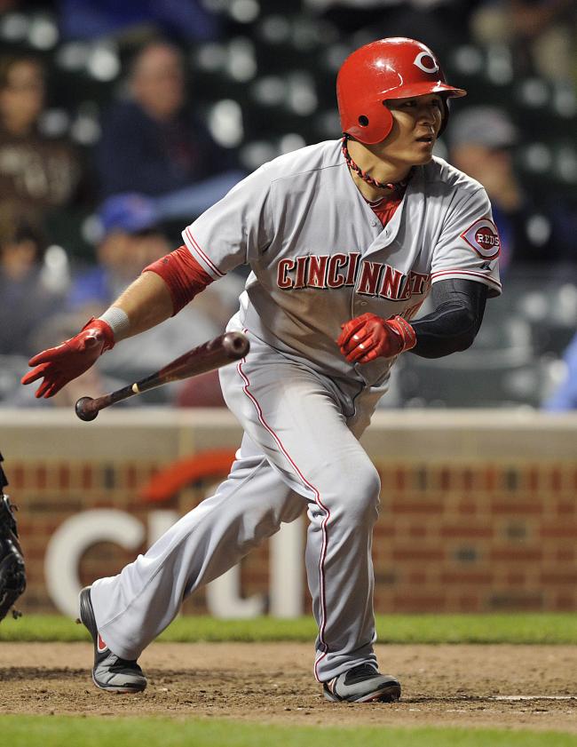 Cincinnati Reds' Choo Shin-soo (AP-Yonhap News)