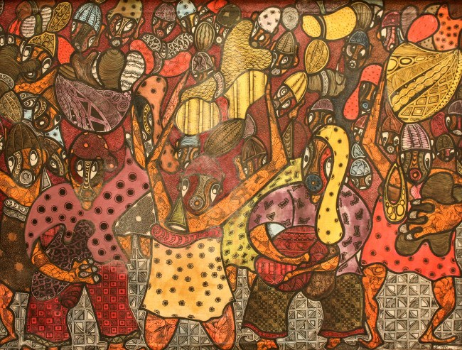 Untitled by Gbenga Ogunshakin. (Total Museum of Contemporary Art)