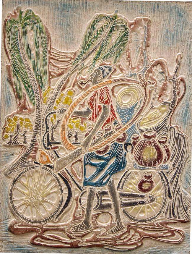 """Onye Nmanya"" by Tony Enebeli. (Total Museum of Contemporary Art)"