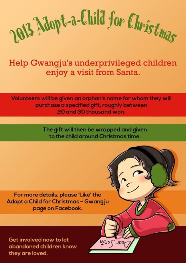 Gwangju expats run orphanage Christmas drive
