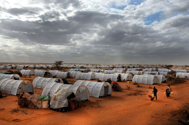 A refugee camp in Somalia, one of the origin countries of asylum seekers in Korea. (hikrcn/123rf)