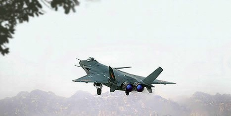 Chinese-developed stealth aircraft J-20 (Yonhap News)