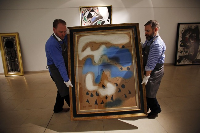 Christie S To Auction Trove Of 85 Joan Miro Works