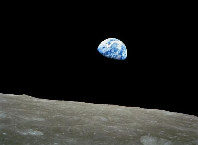 The image of the Earth, taken by the Apollo 8 astronauts on Dec. 24, 1968. (AFP)