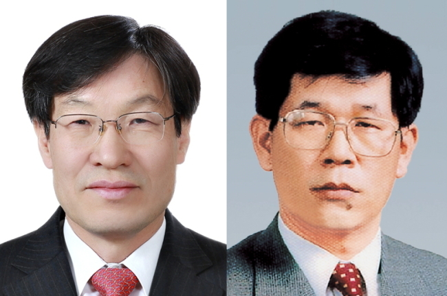 POSCO CTO Kwon Oh-joon(left), POSCO Chemtech CEO Kim Jin-il