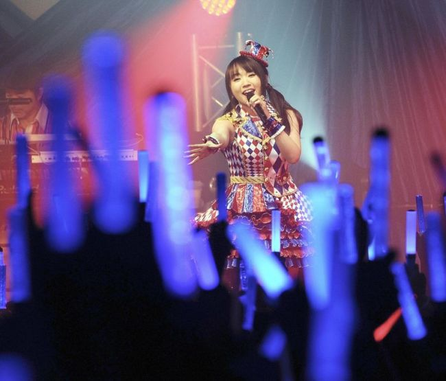 Nana Mizuki performs in her concert in Taiwan in November. (The Japan News)