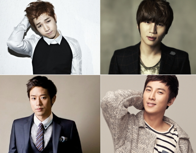 (from top left clock wise) Henry, K. Will, Chun Jung-myung, Park Geon-Hyeong