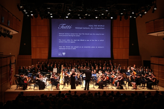 Students of Dwight Schools from Seoul, London and New York stage a concert in Carnegie Hall in New York on Jan. 31. (Dwight School Seoul)