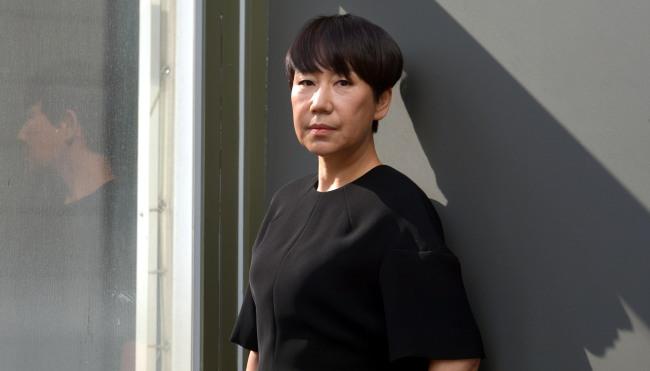Designer Woo Young-mi. (Kim Myung-sub/The Korea Herald)