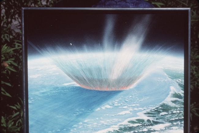 An artist's conception of the giant asteroid that smashed into the Gulf of Mexico 65 million years ago (MCT)