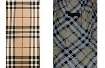 Burberry's pattern (left) and Ssangbangwool's pattern (right)